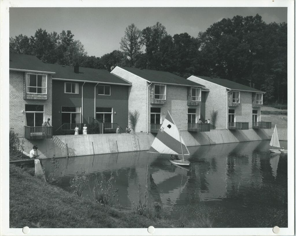 "Sailboats and residents ... ""Venice in Rockville"""