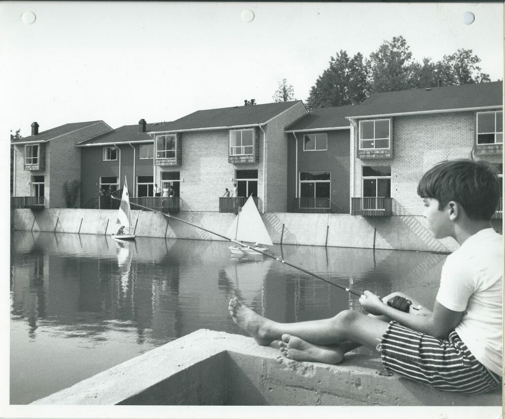 Early days, Lake New Mark fishing and boating