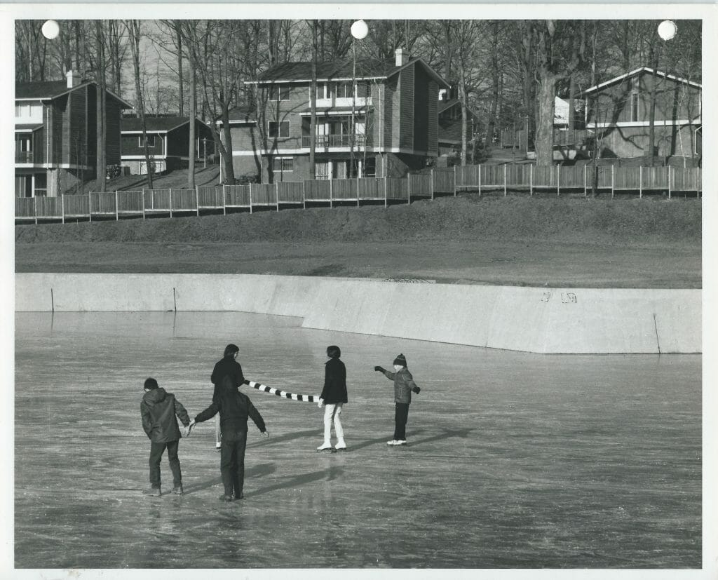 When ice skating was allowed on Lake New Mark